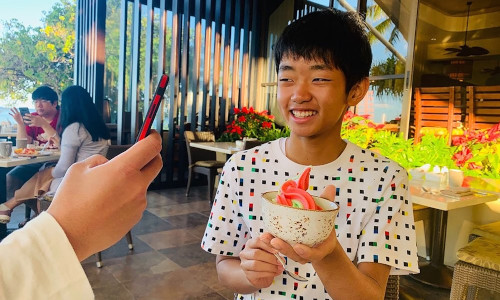 Syu Kato poses for a photo in Hawaii